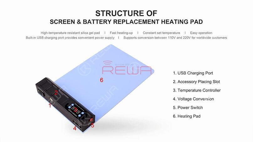Time Saving Repair Kit - Pre-heating Pad for Screen/Battery Replacement