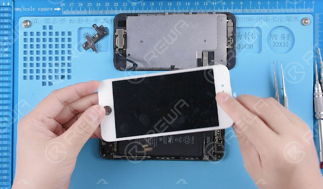 Disassemble the phone, detach the display assembly. Replace with a new display assembly.
