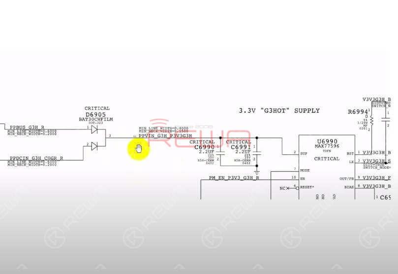 Run diode mode measurement of the D6905 detached bonding pad.