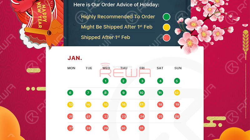 Holiday Notice Of Chinese Lunar New Year