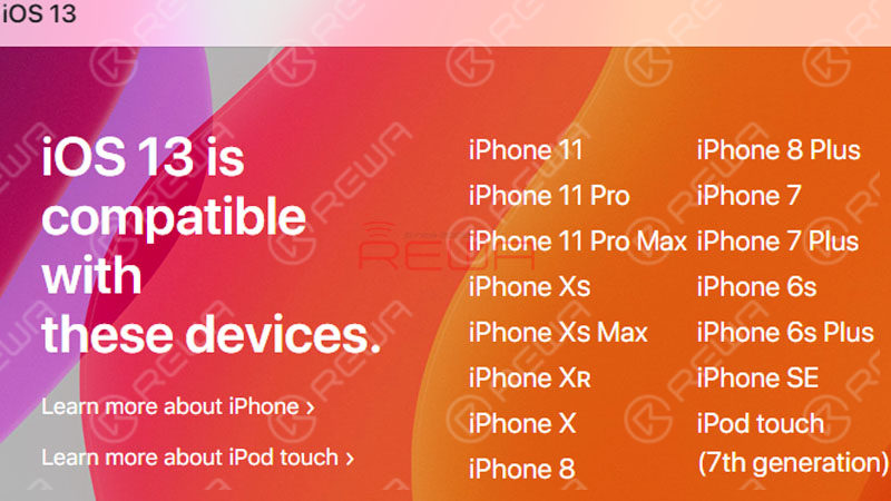 iOS 13 Compatible iPhone