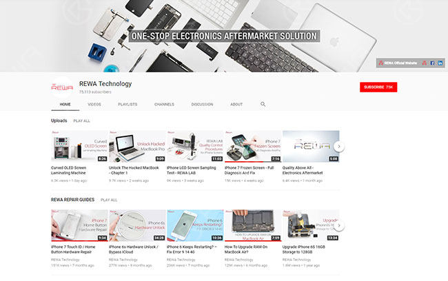 REWA Youtube Channel in Feedspot Top 100 Technology Youtube Channels