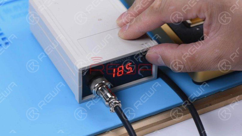 Set the temperature of the Heating Platform to 185℃.