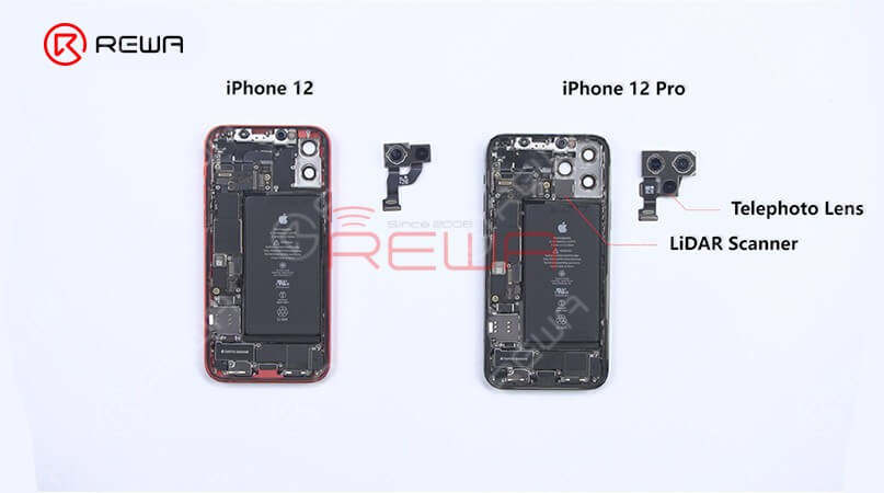 Next, let's take a look at the lightning connector flex cable. The appearance of both is the same. After the swapping test, we find recording function and charging function all work normally.Finally, we found that in addition to the camera and the motherboard, almost all parts of the iPhone 12 and iPhone 12 pro are compatible.