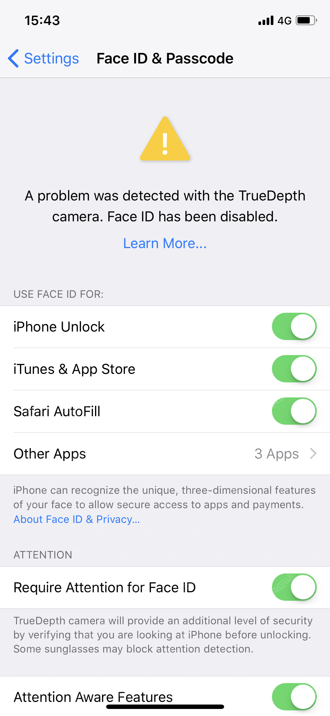 Why iPhone Face ID Is Not Available