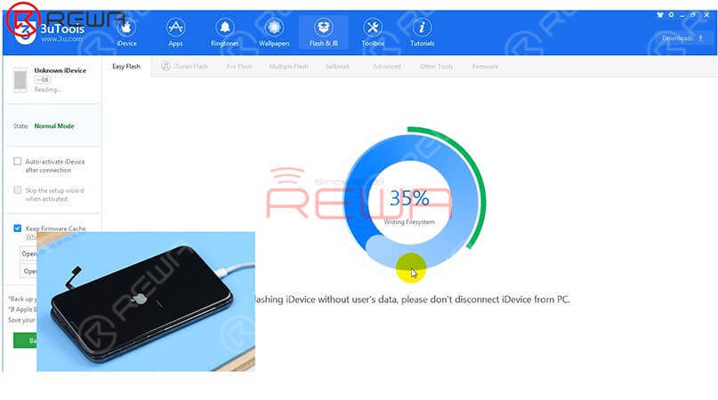 estore the phone with 3U Tools and check whether it comes with error 4013.