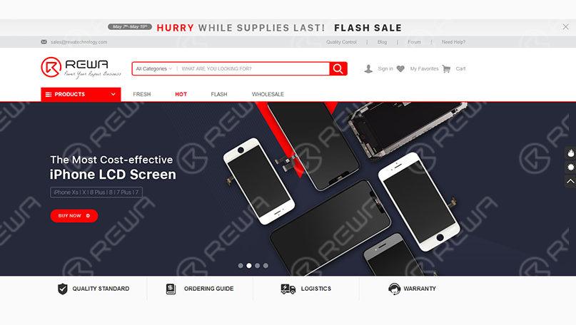 REWA New Shopping Site - shop.rewa.tech